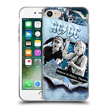 Official Ac/Dc Acdc Collage Rock And Roll Soft Gel Case For Apple Iphone 7