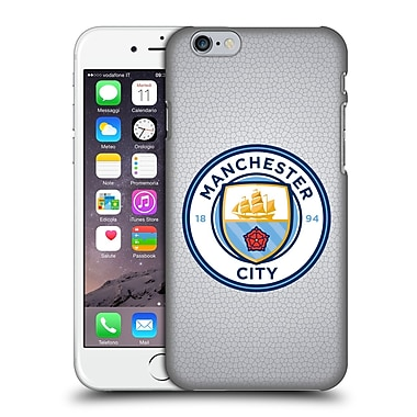 Official Manchester City Man City Fc Badge Pixels Mosaic Full Colour Hard Back Case For Apple Iphone 6 / 6S