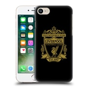 Official Liverpool Football Club Crest 2 Black 2 Hard Back Case For Apple Iphone 7