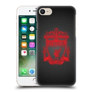 Official Liverpool Football Club Crest 2 Black Pixel 2 Hard Back Case For Apple Iphone 7