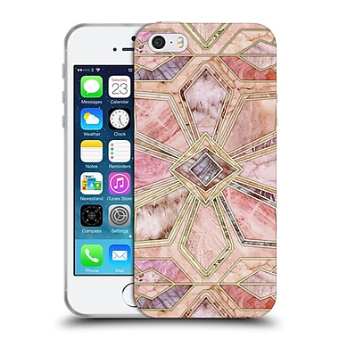 Official Micklyn Le Feuvre Marble Patterns Gilded Stone Tiles Soft Gel Case For Apple Iphone 5 / 5S / Se