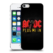 Official Ac/Dc Acdc Song Titles Plug Me In Hard Back Case For Apple Iphone 5 / 5S / Se