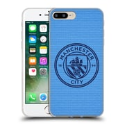 Official Manchester City Man City Fc Badge Pixels Blue Tile Obsidian Mono Soft Gel Case For Apple Iphone 7 Plus