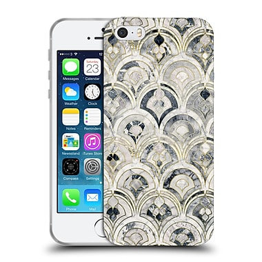 Official Micklyn Le Feuvre Marble Patterns Monochrome Art Deco Tiles Soft Gel Case For Apple Iphone 5 / 5S / Se