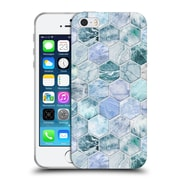 Official Micklyn Le Feuvre Marble Patterns Ice Blue And Jade Stone And Hexagon Tiles Soft Gel Case For Apple Iphone 5 / 5S / Se
