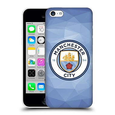 Official Manchester City Man City Fc Badge Geometric Blue Full Colour Hard Back Case For Apple Iphone 5C