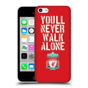 Official Liverpool Football Club Crest Never Walk Alone Stencil Red Hard Back Case For Apple Iphone 5C