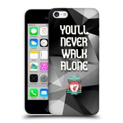 Official Liverpool Football Club Crest Never Walk Alone Grey Geo Plain Hard Back Case For Apple Iphone 5C
