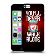 Official Liverpool Football Club Crest Never Walk Alone Red Pixel Plain Hard Back Case For Apple Iphone 5C