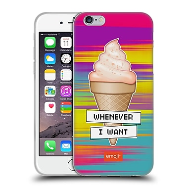 Official Emoji Food Ice Cream Soft Gel Case For Apple Iphone 6 / 6S
