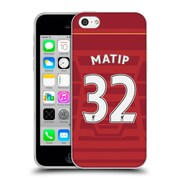 Official Liverpool Football Club Players Home Kit 16/17 Group 2 Matip Soft Gel Case For Apple Iphone 5C