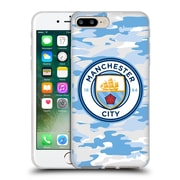 Official Manchester City Man City Fc Badge Camou Light Blue Moon Soft Gel Case For Apple Iphone 7 Plus