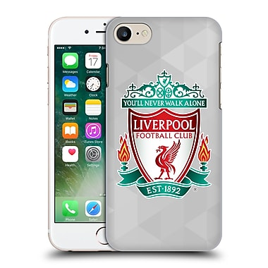 Official Liverpool Football Club Crest 1 White Geometric 1 Hard Back Case For Apple Iphone 7