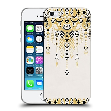 Official Micklyn Le Feuvre Modern Deco Black And Cream Soft Gel Case For Apple Iphone 5 / 5S / Se