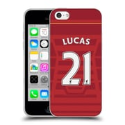 Official Liverpool Football Club Players Home Kit 16/17 Group 2 Lucas Soft Gel Case For Apple Iphone 5C