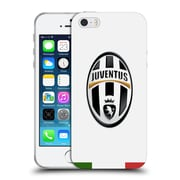 Official Juventus Football Club Crest Italia White Soft Gel Case For Apple Iphone 5 / 5S / Se