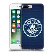 Official Manchester City Man City Fc Badge Pixels Obsidian Tile White Mono Soft Gel Case For Apple Iphone 7 Plus