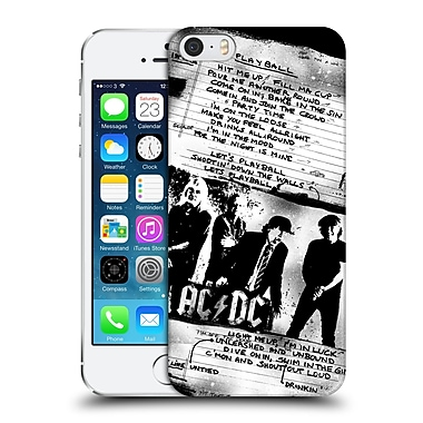 Official Ac/Dc Acdc Lyrics Play Ball Hard Back Case For Apple Iphone 5 / 5S / Se
