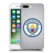 Official Manchester City Man City Fc Badge Pixels Mosaic Full Colour Soft Gel Case For Apple Iphone 7 Plus