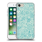 Official Micklyn Le Feuvre Floral Patterns Teal And Cream Soft Gel Case For Apple Iphone 7