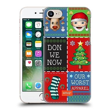 Official Emoji Ugly Christmas Patchwork Hard Back Case For Apple Iphone 7