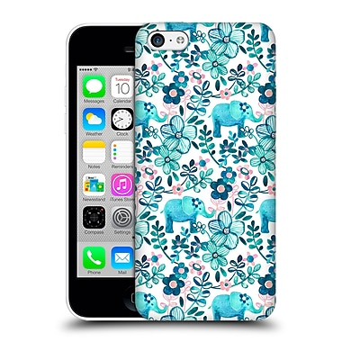 Official Micklyn Le Feuvre Patterns 2 Dusty Pink White And Teal Elephant Hard Back Case For Apple Iphone 5C