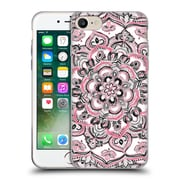 Official Micklyn Le Feuvre Floral Patterns Monochrome And Pink Soft Gel Case For Apple Iphone 7