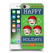 Official Emoji Ugly Christmas Three Santas Hard Back Case For Apple Iphone 7