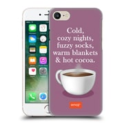 Official Emoji Winter Quotes Hot Cocoa Hard Back Case For Apple Iphone 7