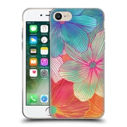 Official Micklyn Le Feuvre Florals 2 Tropical Flowers In Pink Orange Soft Gel Case For Apple Iphone 7