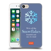 Official Emoji Winter Quotes Snowflakes Hard Back Case For Apple Iphone 7