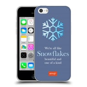 Official Emoji Winter Quotes Snowflakes Soft Gel Case For Apple Iphone 5C