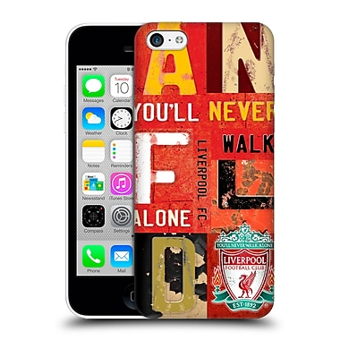 Official Liverpool Football Club Crest Never Walk Alone Vintage Plate Anfield Hard Back Case For Apple Iphone 5C