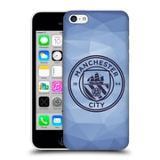 Official Manchester City Man City Fc Badge Geometric Blue Obsidian Mono Hard Back Case For Apple Iphone 5C