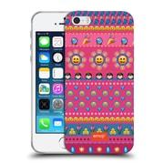 Official Emoji Assorted Prints Happy Faces Soft Gel Case For Apple Iphone 5 / 5S / Se