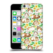 Official Micklyn Le Feuvre Patterns 2 Guinea Pigs And Daisies In Watercolour On Mint Hard Back Case For Apple Iphone 5C