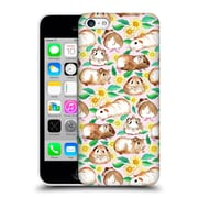 Official Micklyn Le Feuvre Patterns 2 Guinea Pigs And Daisies In Watercolour On Pink Hard Back Case For Apple Iphone 5C