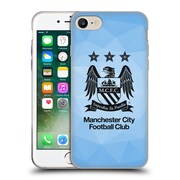 Official Manchester City Man City Fc Crest Geometric Sky Geo Full Black Soft Gel Case For Apple Iphone 7