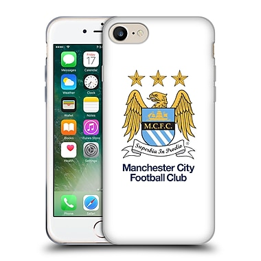 Official Manchester City Man City Fc Crest Full Colour White Soft Gel Case For Apple Iphone 7