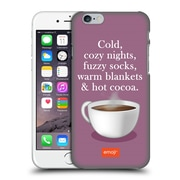 Official Emoji Winter Quotes Hot Cocoa Hard Back Case For Apple Iphone 6 / 6S