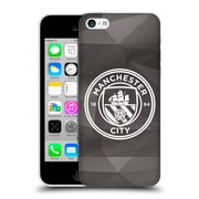 Official Manchester City Man City Fc Badge Geometric Black White Mono Hard Back Case For Apple Iphone 5C