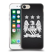 Official Manchester City Man City Fc Crest Pixels One Colour Null Cube Soft Gel Case For Apple Iphone 7