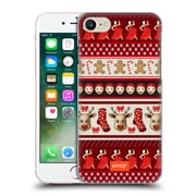 Official Emoji Christmas Patterns Red Theme Hard Back Case For Apple Iphone 7