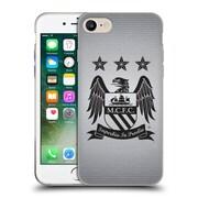 Official Manchester City Man City Fc Crest Pixels One Colour Black Cube Soft Gel Case For Apple Iphone 7