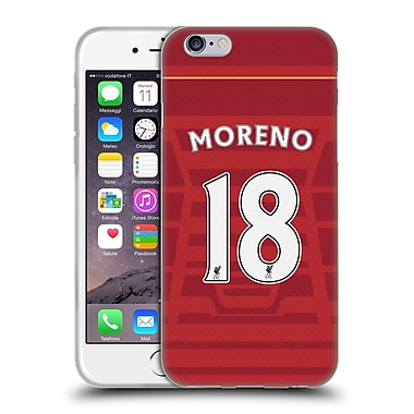 Official Liverpool Football Club Players Home Kit 16/17 Group 2 Moreno Soft Gel Case For Apple Iphone 6 / 6S