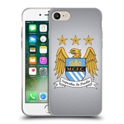 Official Manchester City Man City Fc Crest Pixels Full Colour Mosaic On Grey Soft Gel Case For Apple Iphone 7