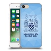 Official Manchester City Man City Fc Crest Geometric Sky Geo Obsidian Outline Soft Gel Case For Apple Iphone 7