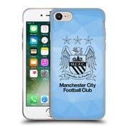 Official Manchester City Man City Fc Crest Geometric Sky Geo Outline Black Soft Gel Case For Apple Iphone 7
