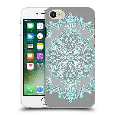 Official Micklyn Le Feuvre Mandala 3 Teal And Aqua Lace Hard Back Case For Apple Iphone 7
