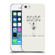 Official Ac/Dc Acdc Album Cover Flick Of The Switch Soft Gel Case For Apple Iphone 5 / 5S / Se
